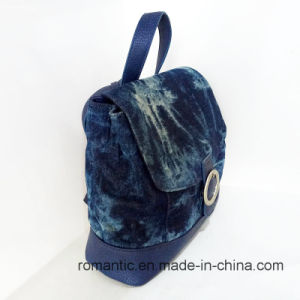 Promotional Fashion Wholesale Women Canvas Leather Backpack (NMDK-042602) pictures & photos