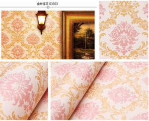Flower Pattern Wall Paper pictures & photos