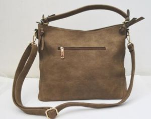 Top Quality PU Leather Vintage Messenger Hobo Handbag pictures & photos