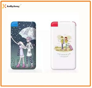 4000mAh Customized Logo Print Credit Card Power Bank