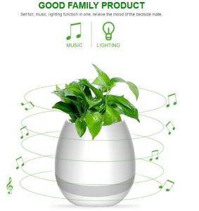 New Wireless Smart Speaker Music Flowerpot with LED pictures & photos