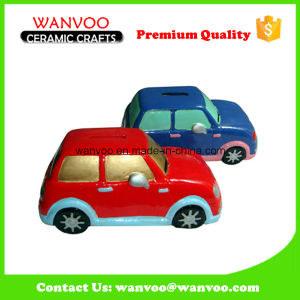 Hand Painted Cartoon Car Ceramic Coin Bank of Home Decoration Craft pictures & photos