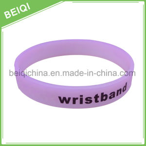 Custom Fashion Soft Discoloration Wristband/UV Wristband pictures & photos