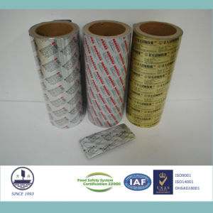 Pharmaceutical Ptp Aluminum Foil for Packaging Pills Alloy 8011 H18