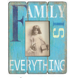 Wood Photo Frame - Family Blue pictures & photos