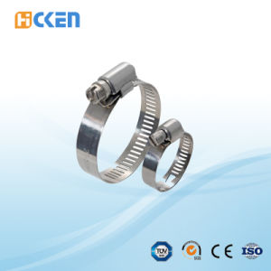 America Type Worm Gear Hose Clamp with Band 12.7mm Hot Selling pictures & photos