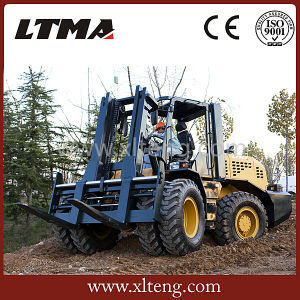 10 Ton 4WD Forklift Rough Terrain Forklift for Sale pictures & photos