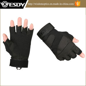 Police Tactical Nylon Half-Finger Summer Protective Shooting Gloves pictures & photos