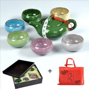 China Factory Price Hottest Colorful Ice Crack Porcelain Tea Set pictures & photos