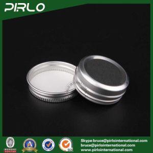 15g Silver Natural Color Aluminum Jar with Screw Cap Flat Shape Empty Lip Balm Cream Jars pictures & photos