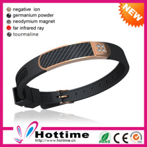 4in1 Negative Ion Rubber Watch with Carbon Fiber Wholesale (CP-JS-NW-022) pictures & photos