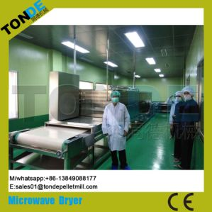 Tunnel Continuous Industrial Micrwoave Sterilization Dryer Machine Equipment pictures & photos
