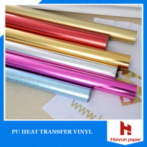 Vivid Color Heat PU Based Transfer Textile Vinyl for Fabric pictures & photos
