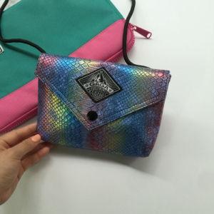 Serpentine Pattern Fashion Colorful PU Designer Handbag (M009-4)