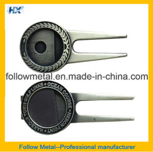 Metal Magnetic Golf Divot Repair Tool with Ball Marker pictures & photos
