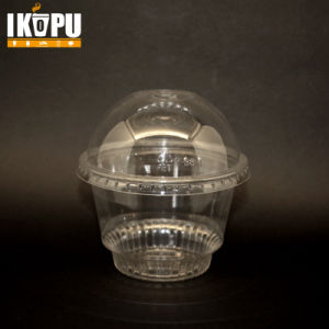 Plastic Ice Cream Cup with Lid Tableware pictures & photos