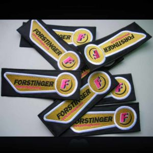 Woven Base embroidery  Designs Embroidery Badge pictures & photos
