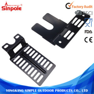 Black Heavy Duty Stainless Steel Universal Rotisserie Metal Support Bracket pictures & photos