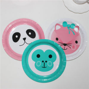 "Cute Panda Printing Paper Plate 7"" pictures & photos"
