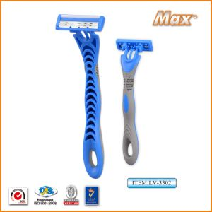 High Quality Triple Blade Disposable Shaving Razor (LV-3304) pictures & photos