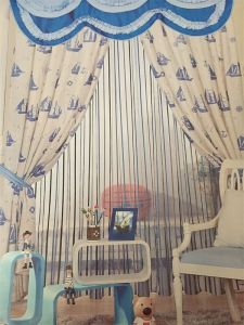 2016 Morden Polyester Texile Window Curtain Fabric EDM4886