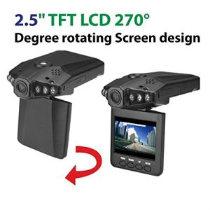 2.4 Inch LCD Portable DVR Rotatable Car Camera pictures & photos