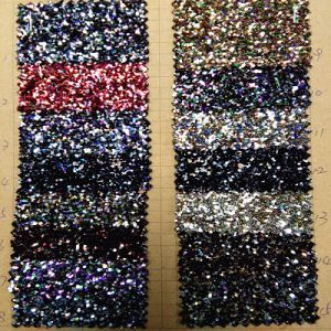 Sparkling Shine Glitter Leather PU Leather for Shoe Leather (HS-M300) pictures & photos