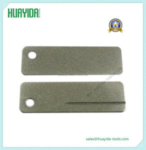 Mini Outdoor Portable Diamond Sharpening Stone Keychain Sharpener Ring File pictures & photos