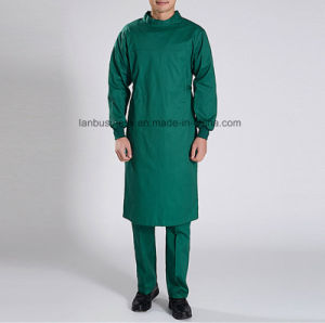Cotton Anti-Bacterial Resistance to High Temperature Surgical Suit in Green pictures & photos