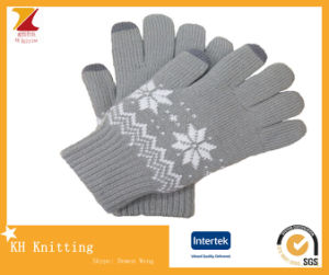 Warm Double Layer Winter Knitted Glove pictures & photos