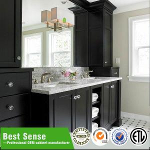 Hot Sale Wall Mounted Wooden Veneer Bathroom Cabinet pictures & photos