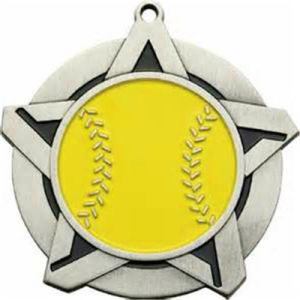 Promotional Gift Customized Silver Softball Medal pictures & photos