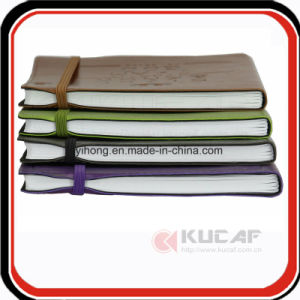 Promotional Gift Elastic Band Diary Leather Notebook pictures & photos