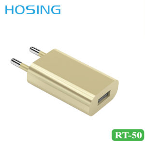 EU Plug 5V 2.1A Gold/ White/ Black Wall Charger for iPhone/Huawei pictures & photos