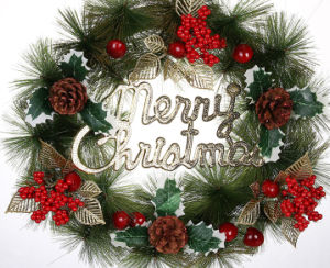 OEM New Product Christmas Wreath and Garland for Hang Decoration pictures & photos