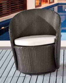 Outdoor Furniture Rattan Swivel Chair and Rattan Table pictures & photos