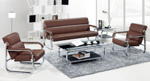 Modern Europe Design Steel Metal Leather Waiting Office Sofa (NS-S8607) pictures & photos