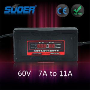 Suoer High Power Electric Bike Charger 60V Smart Fast Charger (SON-6080D) pictures & photos