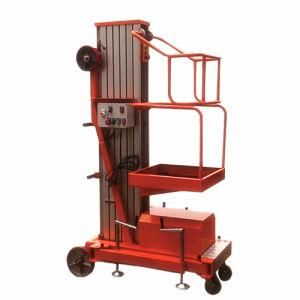 6m Single Mast Hydraulic Aluminium Alloy Lifting Platform pictures & photos