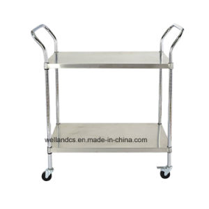 NSF Commercial Stainless Steel Utility Cart /Metal Cart/Metal Trolley pictures & photos