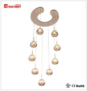 New Modern Style LED Pendant Lamp Hotel Chain Glass Chandelier pictures & photos