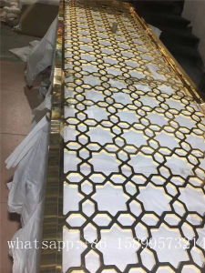 Stainless Steel Perforated Metal Screen Laser Cutting Room Divider Decorative Curtain Wall pictures & photos