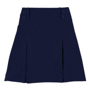 Girls Lycra Four Button Pleat School Uniform Skirt pictures & photos