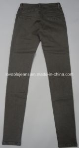 7.6oz Pink Skinny Ladies Jeans (HY1609028-1#) pictures & photos