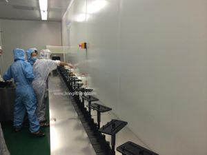 Turkey 100000 Clean Class Automatic UV Spray Coating Paint Line pictures & photos