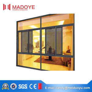 Three Track Sliding Window with Mesh for Veranda pictures & photos