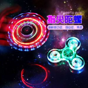 Factory Price Colorful LED Fidget Spinner Crystal Plastic for Everyone pictures & photos