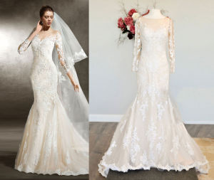 New Arrival Fit and Flowy Wedding Dress pictures & photos