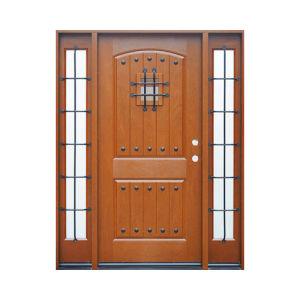 8 Panel with Center Arch Fiberglass Door pictures & photos