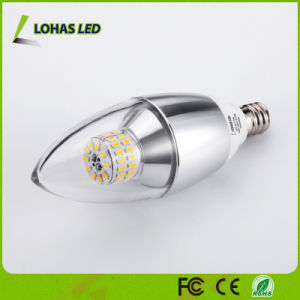 Candelabra E12 E14 E27 3W 5W 6W LED Candle Bulb Light with Ce RoHS UL pictures & photos